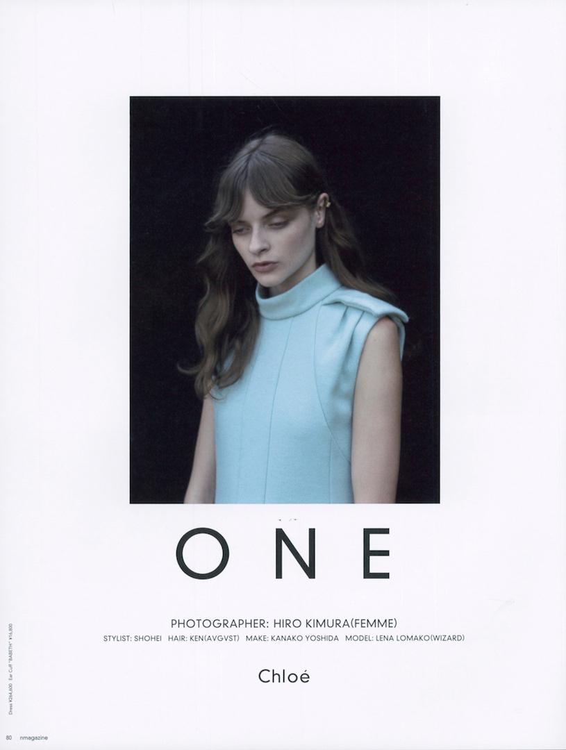 N magazine – Chloé  KEN YOSHIMURA HAIR