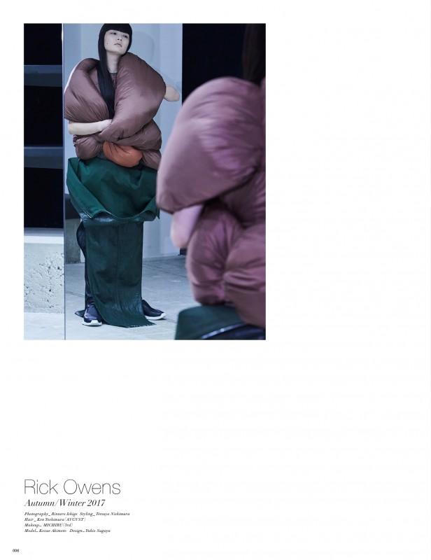 her magazine – Rick Owens  KEN YOSHIMURA HAIR